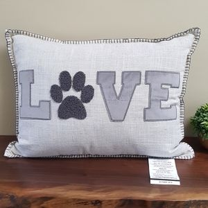 🌟SALE🌟 NEW! Pillow Love with Paw Print